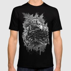 Vulture and Pine Black Mens Fitted Tee MEDIUM