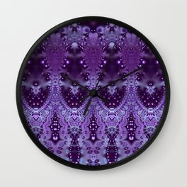 Lavender Entangled Wall Clock