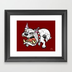 Raging Bulldog Framed Art Print