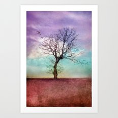 ATMOSPHERIC TREE | Early Morning Art Print