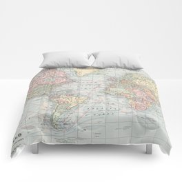 Vintage World Map (1901) Comforters