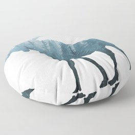 Misty Forest Moose Floor Pillow