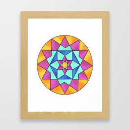 Astract pattern Framed Art Print