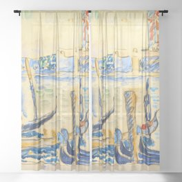 """Paul Signac """"View of Venice"""" Sheer Curtain"""