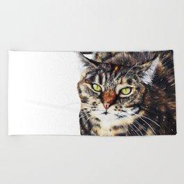 Kitty Cat Chili Beach Towel