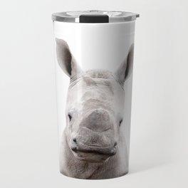 Baby Rhino Portrait Travel Mug