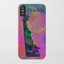 Delaware Map iPhone Case