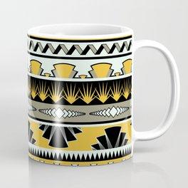 art deco stripes - honey Coffee Mug