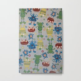 Monsters - Pattern Design - Wild Veda Metal Print