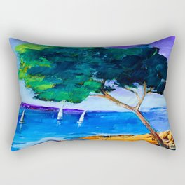 Cypress by the sea Rectangular Pillow