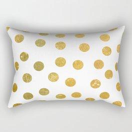 NL 8 4 Gold Polka Dots Rectangular Pillow