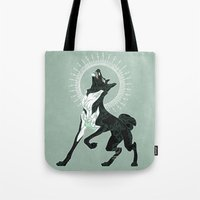 saga Tote Bags featuring Saga of Lord Emil by CanisAlbus