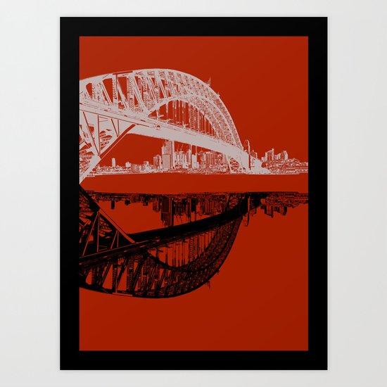 sydney in blue Art Print
