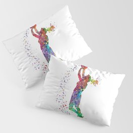 Basketball Girl Player Sports Art Print Pillow Sham
