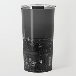 The Empire State and the city. Black & white photography Travel Mug