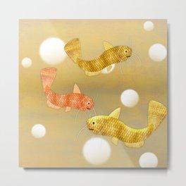 Toy Catfish (Gold) Metal Print