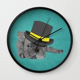 Dapper Dog - French Bulldog Wall Clock