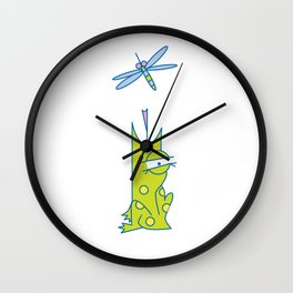 Lowercase i, no border Wall Clock