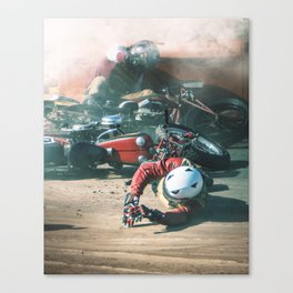 TANGLED IN HOT STEEL Canvas Print