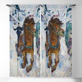Edvard Munch - Galloping Horse Blackout Curtain