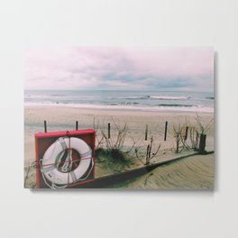 Stormy ocean and beach   Maryland Metal Print