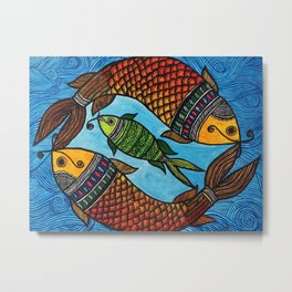3 Fishes Metal Print