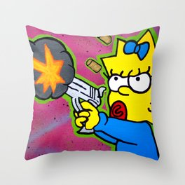 Don't Mess With Baby Throw Pillow