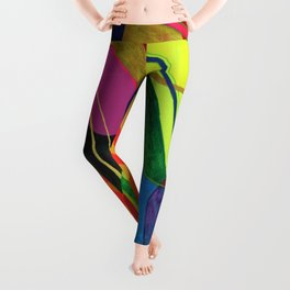 Bright Bold Colorful Abstract Linear Ovals Modern Art 20200606 Leggings