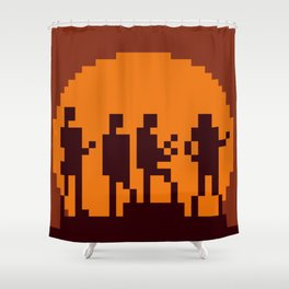 Get Lucky Pixel Cover Shower Curtain
