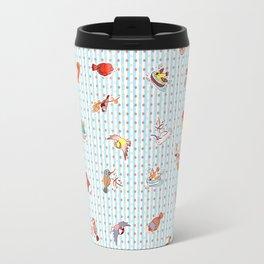 Cute cartoon finches pattern Travel Mug
