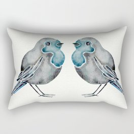 Little Blue Birds Rectangular Pillow