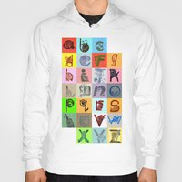 alphabet Hoodies featuring Alphabet by minouette