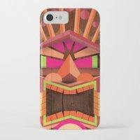 tiki iPhone & iPod Cases featuring Tiki by Cimone Key