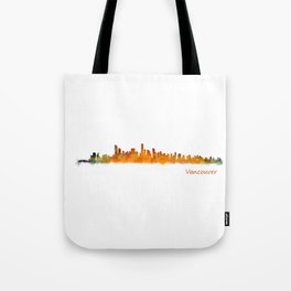 Vancouver Canada City Skyline Hq v01 Tote Bag