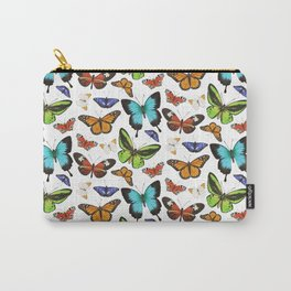 Butterflies - colourful pattern Carry-All Pouch