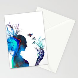 Queen of Heart's - Mother Earth holding her heART in her Hands Stationery Cards