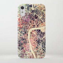 London Mosaic Map #1 iPhone Case