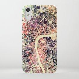 London Mosaic Map #1 iPhone Case