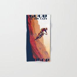 retro mountain bike poster: good to the last drop Hand & Bath Towel