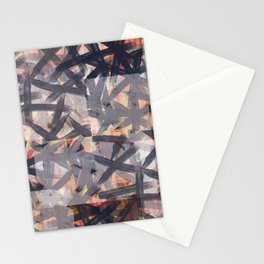 Multilayered Shibori Digital Painting Stationery Cards