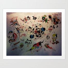 toon flash sheet Art Print