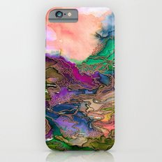 BRING ON BOHEMIA 1 Bold Rainbow Colorful Watercolor Abstract Metallic Accent Summer Peach Pink Green Slim Case iPhone 6s