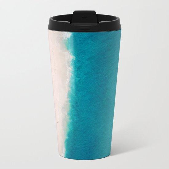 Beach + Sea Metal Travel Mug