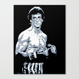 Sylvester Stallone as Rocky Balboa, portrait pop Canvas Print