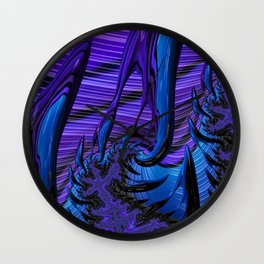 Violet Flame Wall Clock