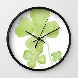 Shamrocks Wall Clock
