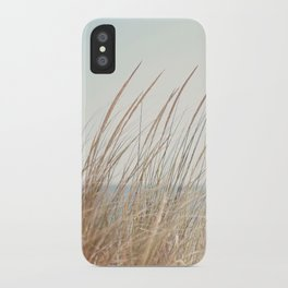 Beach Grass Photography, Calming Coastal Photo Print, Relaxing Beach House Photograph, Seaside Photo iPhone Case