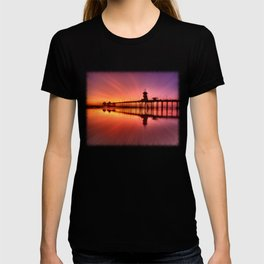 Sunset In Motion Huntington Beach Pier * Photo: Steve Berger T-shirt