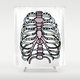 Polynesian Ribcage Shower Curtain