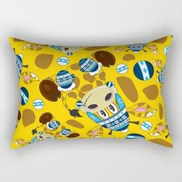 Cute Cartoon Bobble Hat Giraffe Pattern Rectangular Pillow